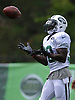 Romar Morris #30 of the New York Jets makes a catch during training camp at the Atlantic Health Jets Training Center in Florham Park, NJ on Friday, Aug. 4, 2017.
