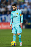 Lionel Andres Messi of FC Barcelona gets ready to kick the ball during the La Liga 2017-18 match between CD Leganes vs FC Barcelona at Estadio Municipal Butarque on November 18 2017 in Leganes, Spain. Photo by Diego Gonzalez / Power Sport Images