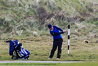 Joe Lyons (Galway) on the 3rd during Round 3 of The West of Ireland Open Championship in Co. Sligo Golf Club, Rosses Point, Sligo on Saturday 6th April 2019.<br /> Picture:  Thos Caffrey / www.golffile.ie