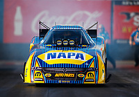 Feb 2, 2018; Chandler, AZ, USA; NHRA funny car driver Ron Capps during Nitro Spring Training pre season testing at Wild Horse Pass Motorsports Park. Mandatory Credit: Mark J. Rebilas-USA TODAY Sports