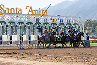 ARCADIA, CA  JUNE 2:  The start of the Beholder Mile (Grade l) on June 2, 2018 at Santa Anita Park in Arcadia, CA. (Photo by Casey Phillips/Eclipse Sportswire/Getty Images)