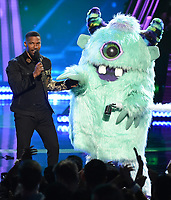 LOS ANGELES- MARCH 14: Jamie Foxx (L) and Monster appear on the 2019 iHeartRadio Music Awards at the Microsoft Theater on March 14, 2019 in Los Angeles, California. (Photo by Frank Micelotta/Fox/PictureGroup)