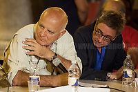 (From L to R) Maurizio Torrealta - Journalist and Author (Giornalista e Scrittore, http://www.mauriziotorrealta.it/ ) &amp; Saverio Lodato - Journalist &amp; Author (Giornalista e Scrittore).<br />