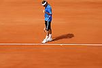 Roland Garros. Paris, France. June 11th 2006..Men's final. Roger Federer against Rafael Nadal.