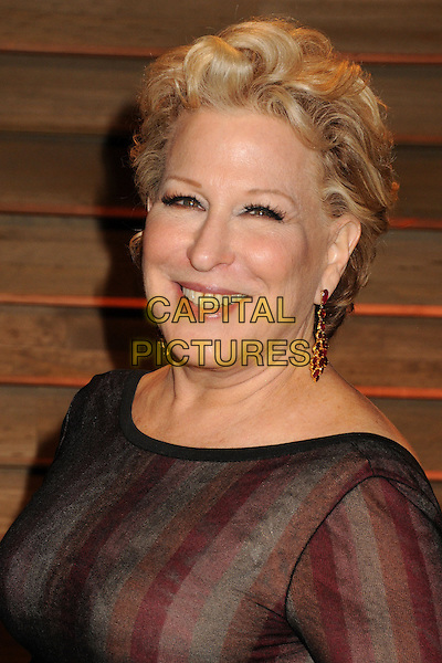 02 March 2014 - West Hollywood, California - Bette Midler. 2014 Vanity Fair Oscar Party following the 86th Academy Awards held at Sunset Plaza.  <br /> CAP/ADM/BP<br /> &copy;Byron Purvis/AdMedia/Capital Pictures