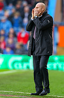 Burnley manager Sean Dyche shouts instructions to his team from the technical area<br /> <br /> Photographer Alex Dodd/CameraSport<br /> <br /> The Premier League - Burnley v West Ham United - Sunday 30th December 2018 - Turf Moor - Burnley<br /> <br /> World Copyright © 2018 CameraSport. All rights reserved. 43 Linden Ave. Countesthorpe. Leicester. England. LE8 5PG - Tel: +44 (0) 116 277 4147 - admin@camerasport.com - www.camerasport.com