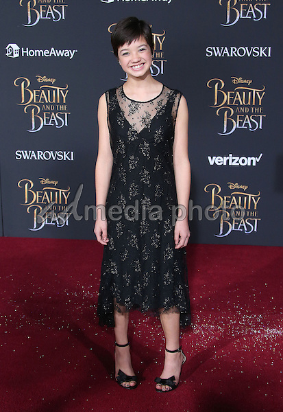 02 March 2017 - Hollywood, California - Peyton Elizabeth Lee<br /> Top 5000<br /> Booboo Stewart. Disney's &quot;Beauty and the Beast' World Premiere held at El Capitan Theatre. Photo Credit: AdMedia