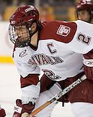 Dylan Reese (Harvard - 2) - The Northeastern University Huskies defeated the Harvard University Crimson 3-1 in the Beanpot consolation game on Monday, February 12, 2007, at TD Banknorth Garden in Boston, Massachusetts.