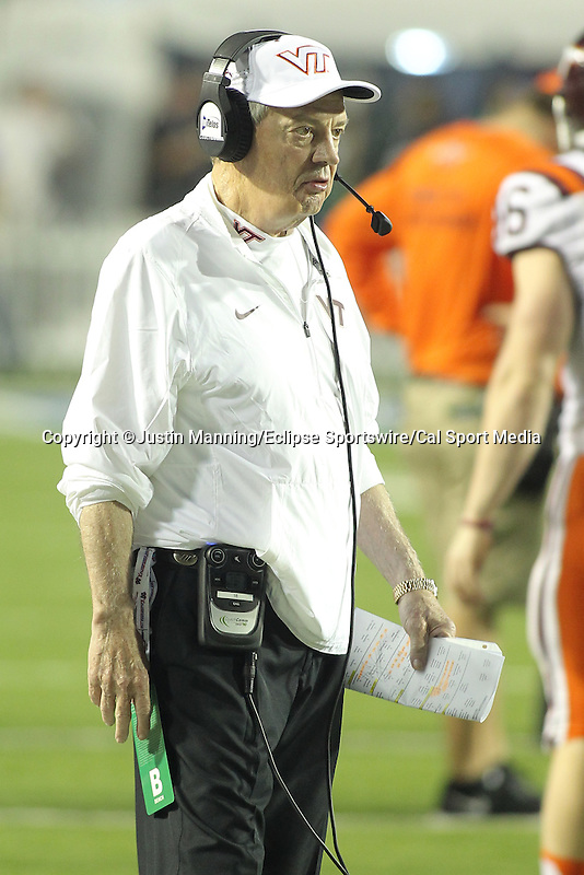 December 26, 2015: Virginia Tech head coach Frank Beamer during the 1st half of the Camping World Independence Bowl at Independence Stadium in Shreveport, LA. Justin Manning/ESW/CSM