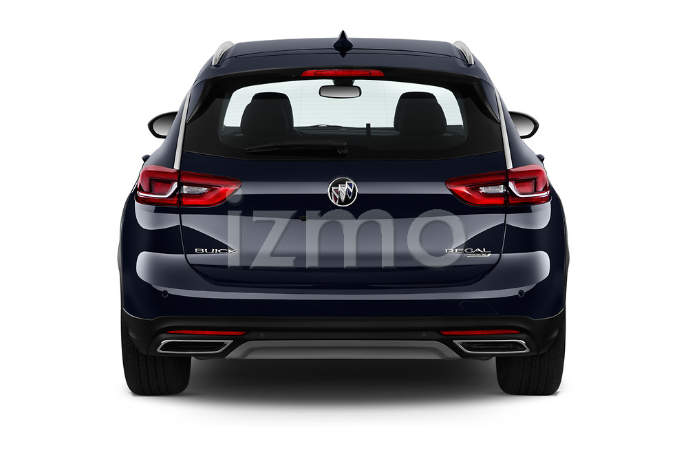 Straight rear view of a 2018 Buick Regal TourX Essence AWD 5 Door Wagon stock images