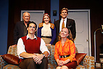 Curtain Call of Mary, Mary on opening night: Back  Row: Bill Tatum (As The World Turns), Natasha Edwards, Grant Aleksander (Guiding Light and All My Children). Front: Sam Perwin, Katharine McLeod star in Mary, Mary on opening night June 18, 2015 at Cape May Stage (Robert Shackleton Playhouse) in Cape May, New Jersey. (Photos by Sue Coflin/Max Photos)