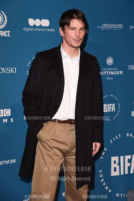 LONDON, UK. December 02, 2018: Josh Hartnett at the British Independent Film Awards 2018 at Old Billingsgate, London.<br /> Picture: Steve Vas/Featureflash
