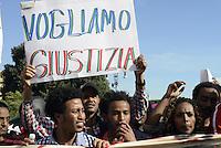 Roma, 19 Ottobre 2013<br /> Il corteo contro l'austerità.<br /> Migranti e rifugiati