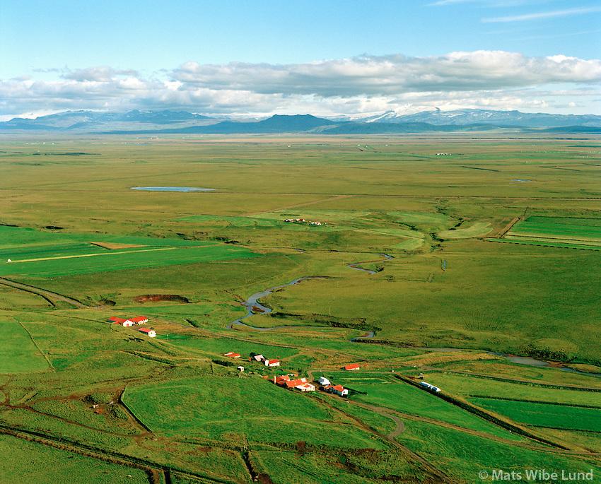 Sumarliðabær séð til suðausturs, Ásahreppur / Sumarlidabaer viewing southeast, Asahreppur