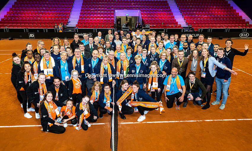 The Hague, The Netherlands, Februari 7, 2020,    Sportcampus, FedCup  Netherlands -  Balarus, Team<br /> Photo: Tennisimages/Henk Koster
