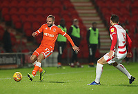 Blackpool's Ryan McLaughlin and Doncaster Rovers' Danny Andrew<br /> <br /> Photographer Rachel Holborn/CameraSport<br /> <br /> The EFL Sky Bet League One - Doncaster Rovers v Blackpool - Tuesday 27th November 2018 - Keepmoat Stadium - Doncaster<br /> <br /> World Copyright &copy; 2018 CameraSport. All rights reserved. 43 Linden Ave. Countesthorpe. Leicester. England. LE8 5PG - Tel: +44 (0) 116 277 4147 - admin@camerasport.com - www.camerasport.com