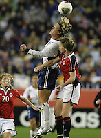 Abby Wambach v Brit Sandaune(Norway) 2003 WWC USA/Norway quarter final.