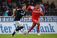 Edmond Kapllani (FSV) gegen Jonathan Tah (Fortuna) - FSV Frankfurt vs. Fortuna Düsseldorf, Frankfurter Volksbank Stadion