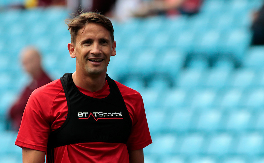 Middlesbrough's Gast&oacute;n Ram&iacute;rez during the pre-match warm-up <br /> <br /> Photographer David Shipman / CameraSport<br /> <br /> Football - Pre-Season Friendly - Aston Villa v Middlesbrough - Saturday 30th July 2016 - Villa Park, Birmingham<br /> <br /> &copy; CameraSport - 43 Linden Ave. Countesthorpe. Leicester. England. LE8 5PG - Tel: +44 (0) 116 277 4147 - admin@camerasport.com - www.camerasport.com