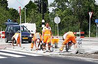 Nederland Amsterdam  2017 . Herinrichting Amsterdam-Noord. Wegwerkzaamheden. Foto Berlinda van Dam / Hollandse Hoogte