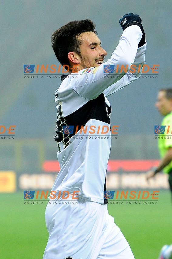 esultanza gol Nicola Sansone Parma - Goal celebration 0-1- Milano 08-12-2013 Stadio Giuseppe Meazza - Football Calcio Serie A 2013/2014 Inter Parma - Foto Imagesport / Insidefoto