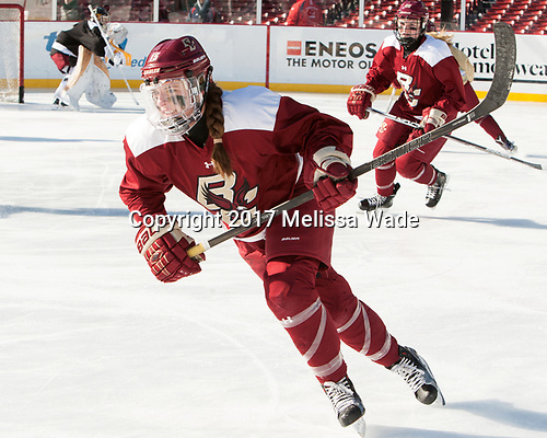 Erin Connolly (BC - 15) - The Boston College Eagles practiced at Fenway on Monday, January 9, 2017, in Boston, Massachusetts.Erin Connolly (BC - 15) - The Boston College Eagles practiced at Fenway on Monday, January 9, 2017, in Boston, Massachusetts.