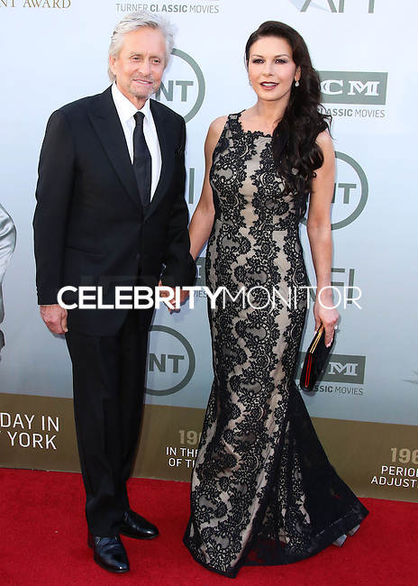 HOLLYWOOD, LOS ANGELES, CA, USA - JUNE 05: Michael Douglas, Catherine Zeta-Jones at the 42nd AFI Life Achievement Award Honoring Jane Fonda held at the Dolby Theatre on June 5, 2014 in Hollywood, Los Angeles, California, United States. (Photo by Xavier Collin/Celebrity Monitor)