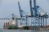 DJIBOUTI, port, ethiopian vessel MV Gambella, most of the goods for or from Ethiopia are shipped via Djibouti / DSCHIBUTI Hafen, ethiopisches Handelsschiff MS Gambella, die meisten Waren fuer Aethiopien werden ueber Djibouti verschifft
