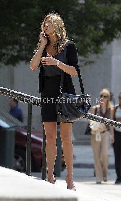 WWW.ACEPIXS.COM . . . . .  ....August 4 2009, New York city....Actress Jennifer Aniston was on the Manhattan set of the new movie 'Bounty' on August 4 2009 in New York City....Please byline: AJ Sokalner - ACEPIXS.COM..... *** ***..Ace Pictures, Inc:  ..tel: (212) 243 8787..e-mail: info@acepixs.com..web: http://www.acepixs.com