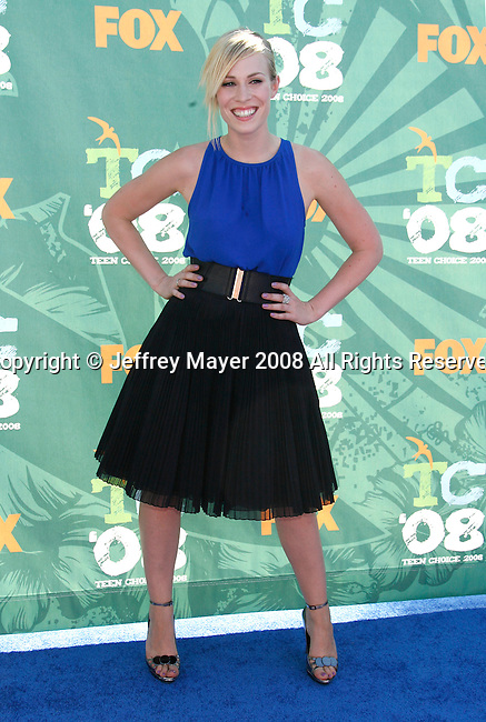 Singer Natasha Bedingfield arrives at the 2008 Teen Choice Awards at the Gibson Amphitheater on August 3, 2008 in Universal City, California.