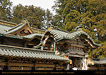 Haiden Oratory Karamon Arched Gable Gate Koma-inu Lion Dog Ryu Dragon Honsha Central Shrine Nikko Toshogu Shrine Nikko Japan