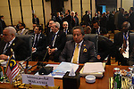 Islamic countries leaders attend the 12th summit of the Organisation of Islamic Cooperation on February 6, 2013 in Cairo. The 12th summit of the Organisation of Islamic Cooperation opened in Cairo, with Syria's civil war and the battle against Islamist militants in Mali topping the agenda. The meeting gathers the leaders of 26 of the OIC's 57 states, including the presidents of Iran and Turkey. Photo by Ahmed Asad