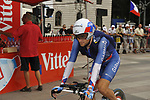US National Champion Dave Zabriskie (USA) Garmin-Slipstream before the start of Stage 18 of the Tour de France 2009 an individual time trial running 40.5km around Lake Annecy, France. 23rd July 2009 (Photo by Eoin Clarke/NEWSFILE)