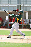 Adrian Cardenas, Oakland Athletics 2010 extended spring training..Photo by:  Bill Mitchell/Four Seam Images.