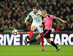 England's Wayne Rooney tussles with Scotland's Scott Brown during the World Cup Qualifying  match at Wembley Stadium, London. Picture date November 11th, 2016 Pic David Klein/Sportimage