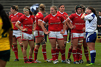 Cnada prepares for a scrum during the 2017 International Women's Rugby Series rugby match between Canada and Australia Wallaroos at Smallbone Park in Rotorua, New Zealand on Saturday, 17 June 2017. Photo: Dave Lintott / lintottphoto.co.nz