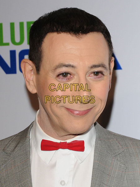 PAUL REUBENS Pee-Wee Herman.The The Pee-Wee Herman Show Opening Night held at Club Nokia at L.A. Live in Los Angeles, California, USA..January 20th, 2010.headshot portrait white grey gray red bow tie .CAP/RKE/DVS.©DVS/RockinExposures/Capital Pictures.
