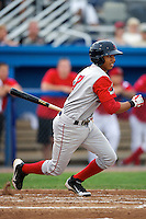 Lowell Spinners Mookie Betts #7 during a game against the Batavia Muckdogs at Dwyer Stadium on July 7, 2012 in Batavia, New York.  Batavia defeated Lowell 3-0.  (Mike Janes/Four Seam Images)