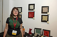 New York, NY, USA - June 24-25, 2017: OrigamiUSA 2017 Convention at St. John's University, Queens, New York, USA. Exhibition of origami designed and folded by Alessandra Lamio.