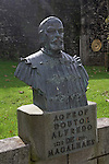 Bust statue Doutor Alfredo de Magalhae,  Valença do Minho, Portugal
