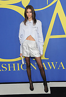 BROOKLYN, NY - JUNE 4: Kaia Gerber at the 2018 CFDA Fashion Awards at the Brooklyn Museum in New York City on June 4, 2018. <br /> CAP/MPI/JP<br /> &copy;JP/MPI/Capital Pictures