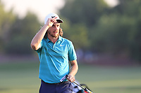 Tommy Fleetwood (ENG) on the 18th green during the 1st round of the DP World Tour Championship, Jumeirah Golf Estates, Dubai, United Arab Emirates. 15/11/2018<br /> Picture: Golffile | Fran Caffrey<br /> <br /> <br /> All photo usage must carry mandatory copyright credit (© Golffile | Fran Caffrey)