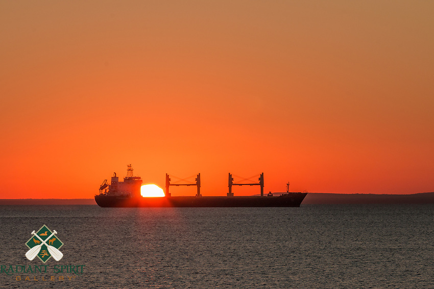 &quot;Solar Cargo&quot;<br /> The Cornelia appears to have delivered the sun right on time. (Actually, the vessel is at anchor on Lake Superior off of Duluth's shoreline.)