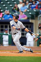 San Antonio Missions shortstop Trea Turner (4) at bat during a game against the NW Arkansas Naturals on May 30, 2015 at Arvest Ballpark in Springdale, Arkansas.  San Antonio defeated NW Arkansas 5-1.  (Mike Janes/Four Seam Images)