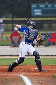 Haden Youngblood (8) of Fletcher, North Carolina during the Baseball Factory All-America Pre-Season Rookie Tournament, powered by Under Armour, on January 13, 2018 at Lake Myrtle Sports Complex in Auburndale, Florida.  (Michael Johnson/Four Seam Images)