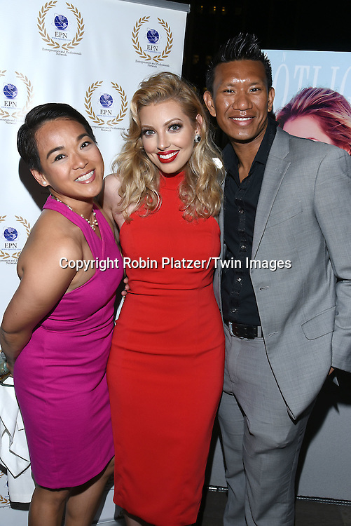 Ester Barosso Guerzon, Albert Guerzon and Dalal Bruchmann attend the &quot;EPN Spotlight Magazine&quot;  launch party on June 10, 2016 at the Renaissance NY Hotel in New York, New York, USA. Dalal Bruchmann is the cover model.<br /> <br /> photo by Robin Platzer/Twin Images<br />  <br /> phone number 212-935-0770