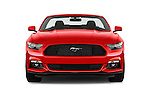 Car photography straight front view of a 2017 Ford Mustang V6 2 Door Convertible Front View