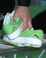 NEW YORK, NY - NOVEMBER 03: Close up of Chris Meledandri's Converse GOLF le FLEUR sneakers at the New York Premiere of  'Dr. Seuss' The Grinch' at Alice Tully Hall, Lincoln Center on November 3, 2018 in New York City.  <br /> CAP/MPIRW<br /> &copy;RW/MPI/Capital Pictures