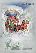 Interlitho, CHRISTMAS SANTA, SNOWMAN, nostalgic, paintings, santa, coach(KL2337/2,#X#) Weihnachten, nostalgisch, Navidad, nostálgico, illustrations, pinturas