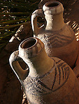 Earthen ware pots in the Draa Valley in Morocco.